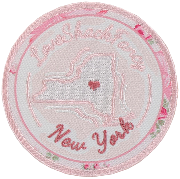 LoveShackFancy x Stoney Clover Lane New York Heart Sticker Patch