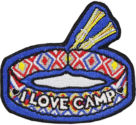 I Love Camp Bracelet Sticker Patch