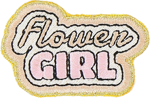 Flower Girl Sticker Patch