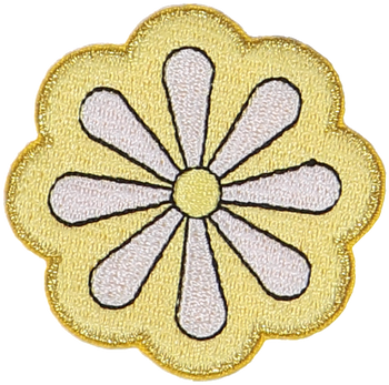 Daisy Flower Sticker Patch
