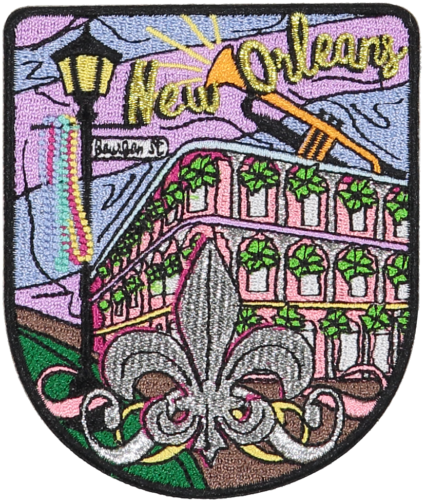 New Orleans Sticker Patch