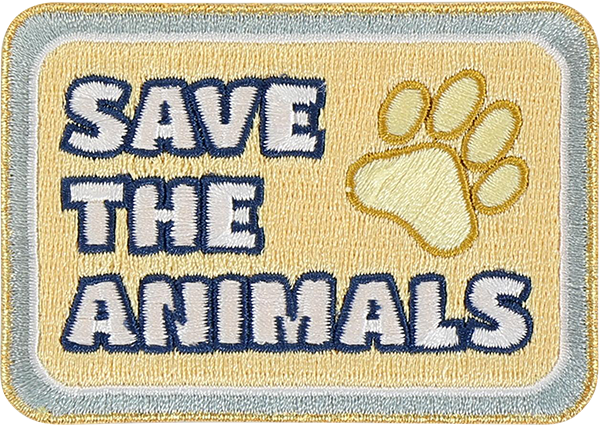 Save The Animals Sticker Patch