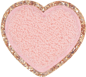 Fall Sparkling Cider Glitter Heart Patch