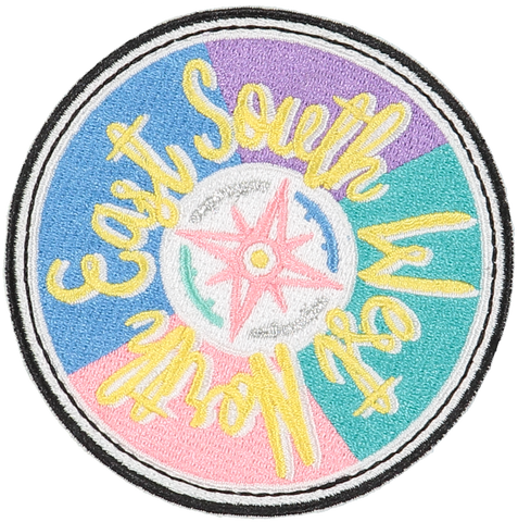 Compass Sticker Patch