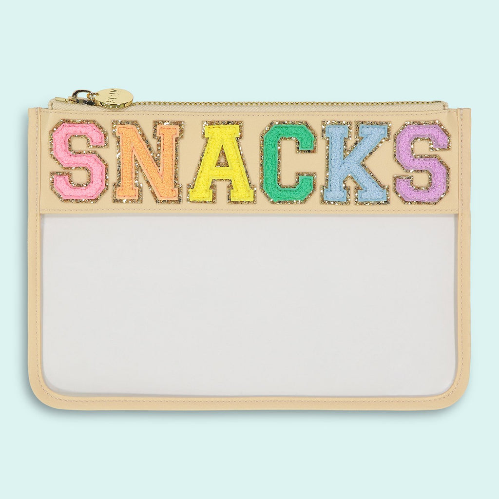 Sand 'Snack' Clear Flat Pouch
