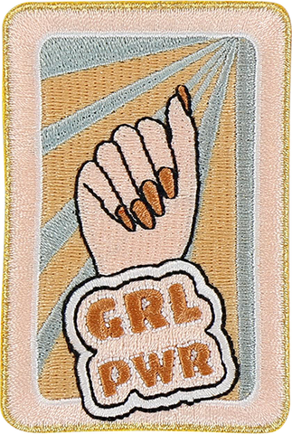 Grl Pwr Sticker Patch