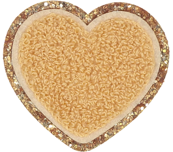 Fall Pumpkin Spice Glitter Heart Patch