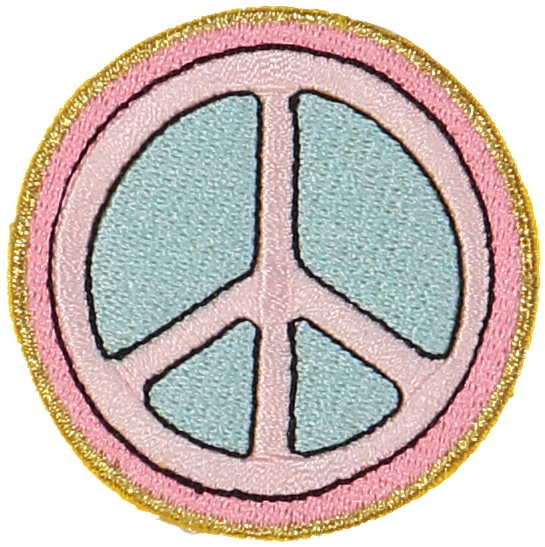 Peace Sign Sticker Patch