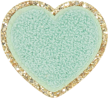 Fall Pistachio Glitter Heart Patch