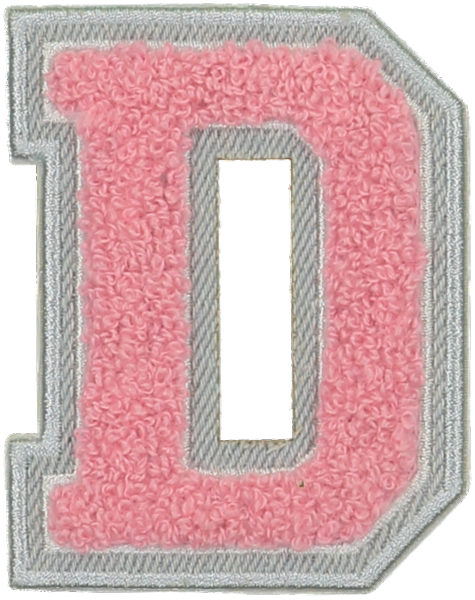 Guava Denim Varsity Letter Patches