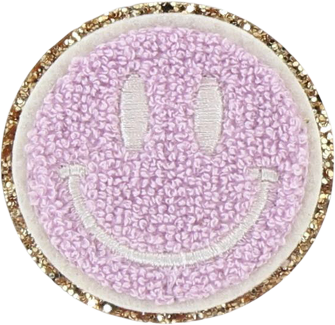 Glitter Smiley Face Patch
