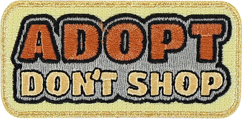 Adopt Don't Shop Sticker Patch
