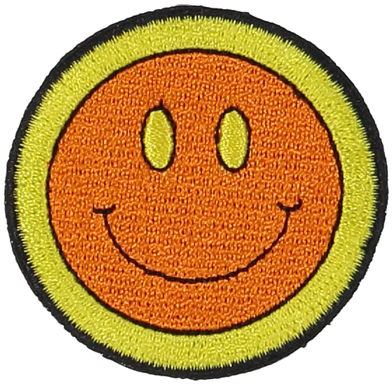Primary Smiley Face Sticker Patch