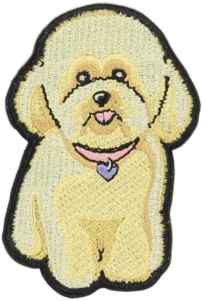Fluffy Dog Sticker Patch