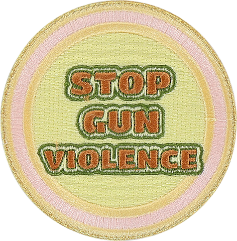 Stop Gun Violence Sticker Patch