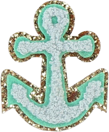 Glitter Anchor Patch