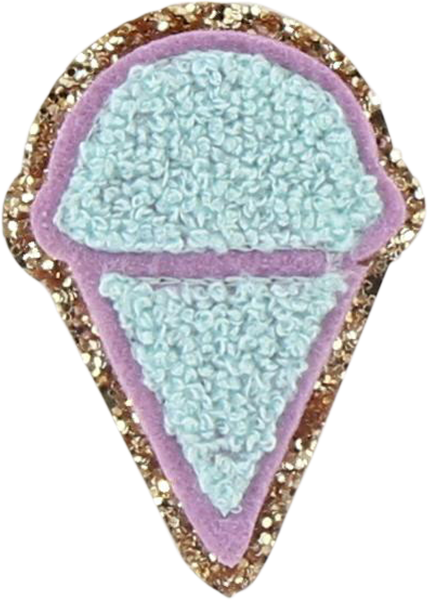 Glitter Ice Cream Cone Patch