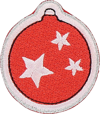 Holiday Ornament Sticker Patch
