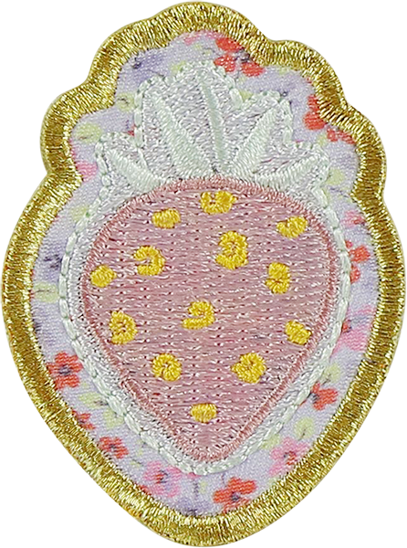 LoveShackFancy x Stoney Clover Lane Strawberry Light Pink Sticker Patch