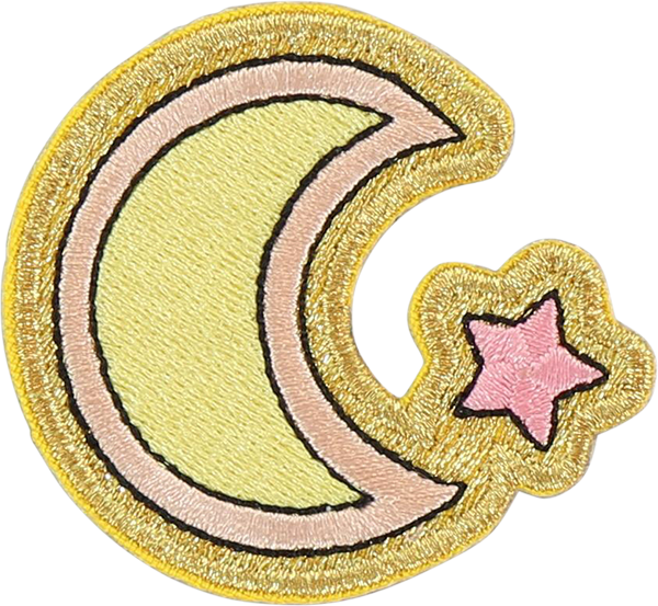 Moon and Star Sticker Patch