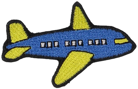 Primary Airplane Sticker Patch
