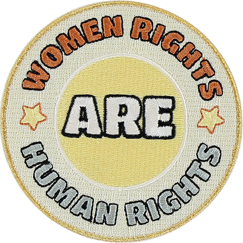 Women Rights Are Human Rights Sticker Patch