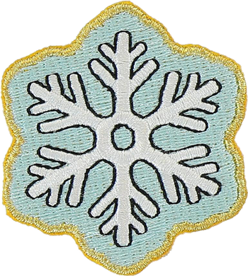 Snowflake Sticker Patch