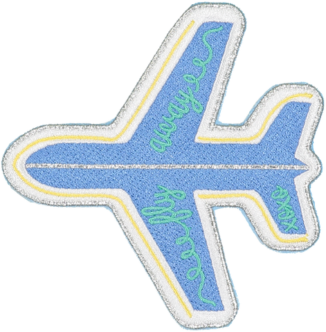 Fly Away Plane Sticker Patch