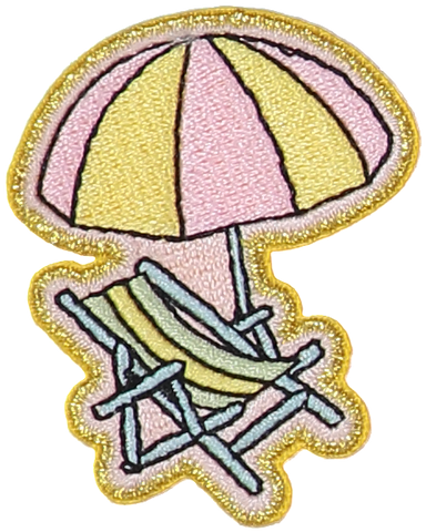 Beach Chair Sticker Patch