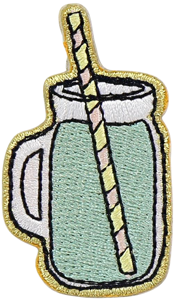 Green Juice Sticker Patch