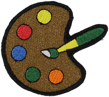 Primary Paint Palette Sticker Patch