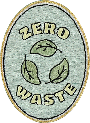 Zero Waste Sticker Patch