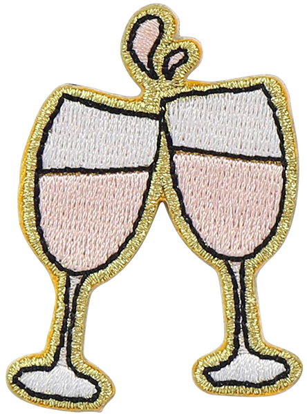 Rosé Cheers Sticker Patch