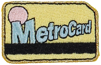 Metro Card Sticker Patch