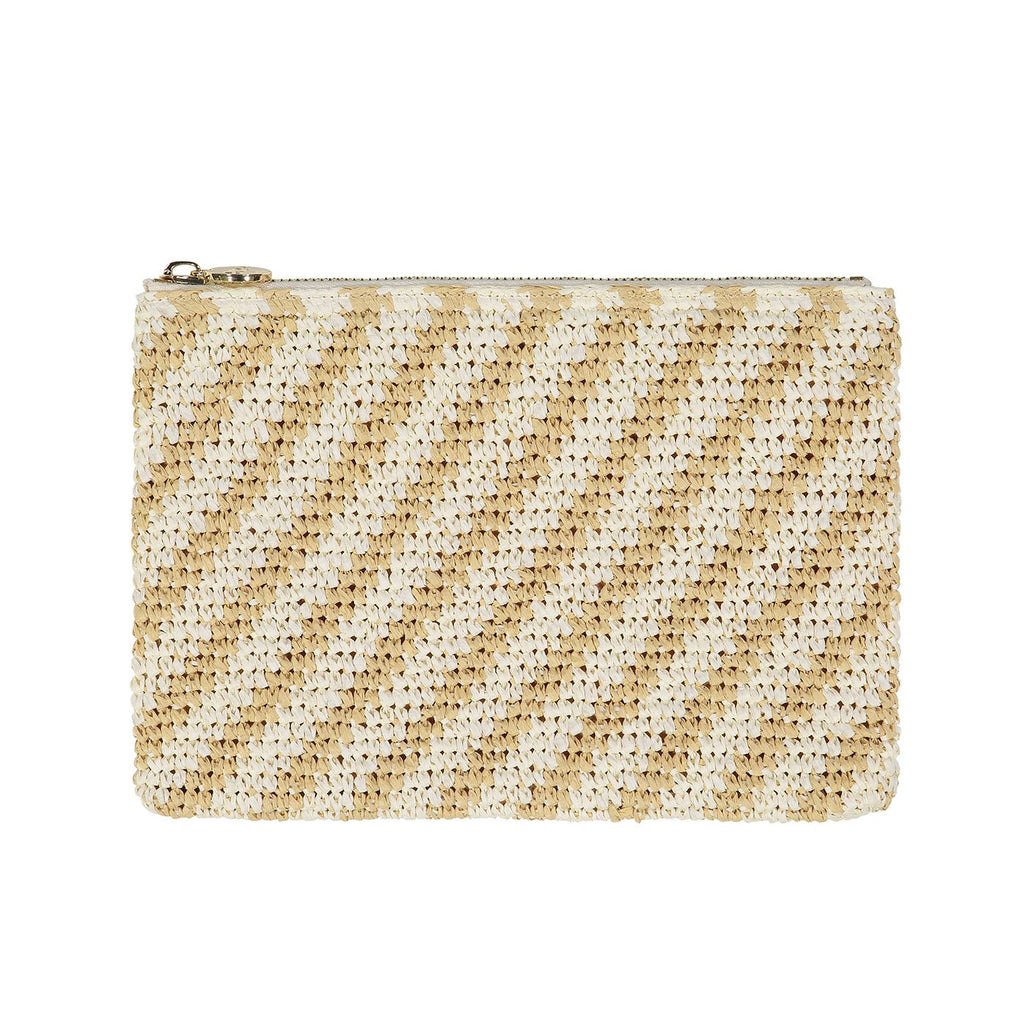 Woven Flat Striped Pouch