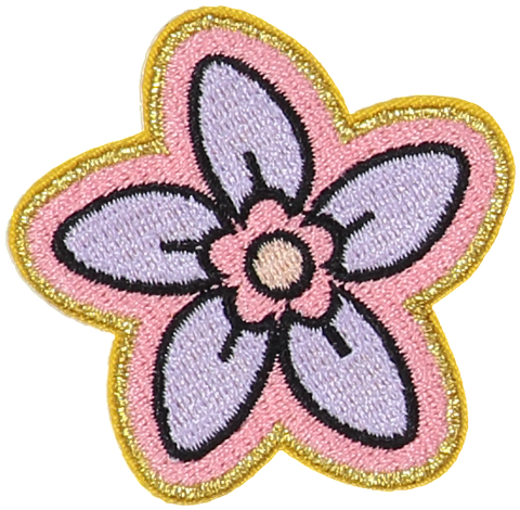 Lilac Flower Sticker Patch
