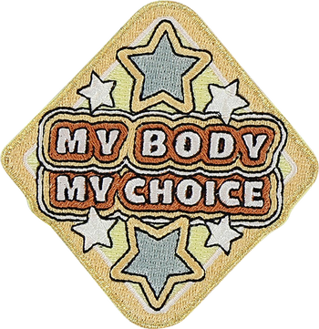 My Body My Choice Sticker Patch