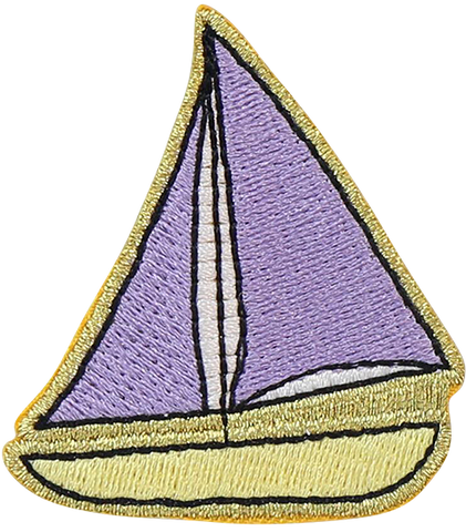 Sail Boat Sticker Patch