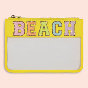 Lemon 'Beach' Clear Flat Pouch