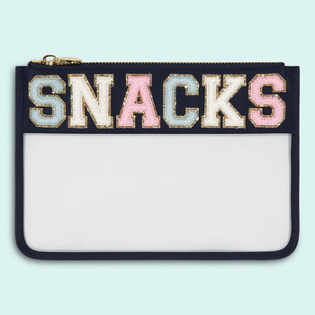 Sapphire 'Snacks' Clear Flat Pouch