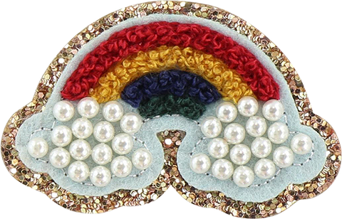 Glitter Pearl Primary Rainbow Patch