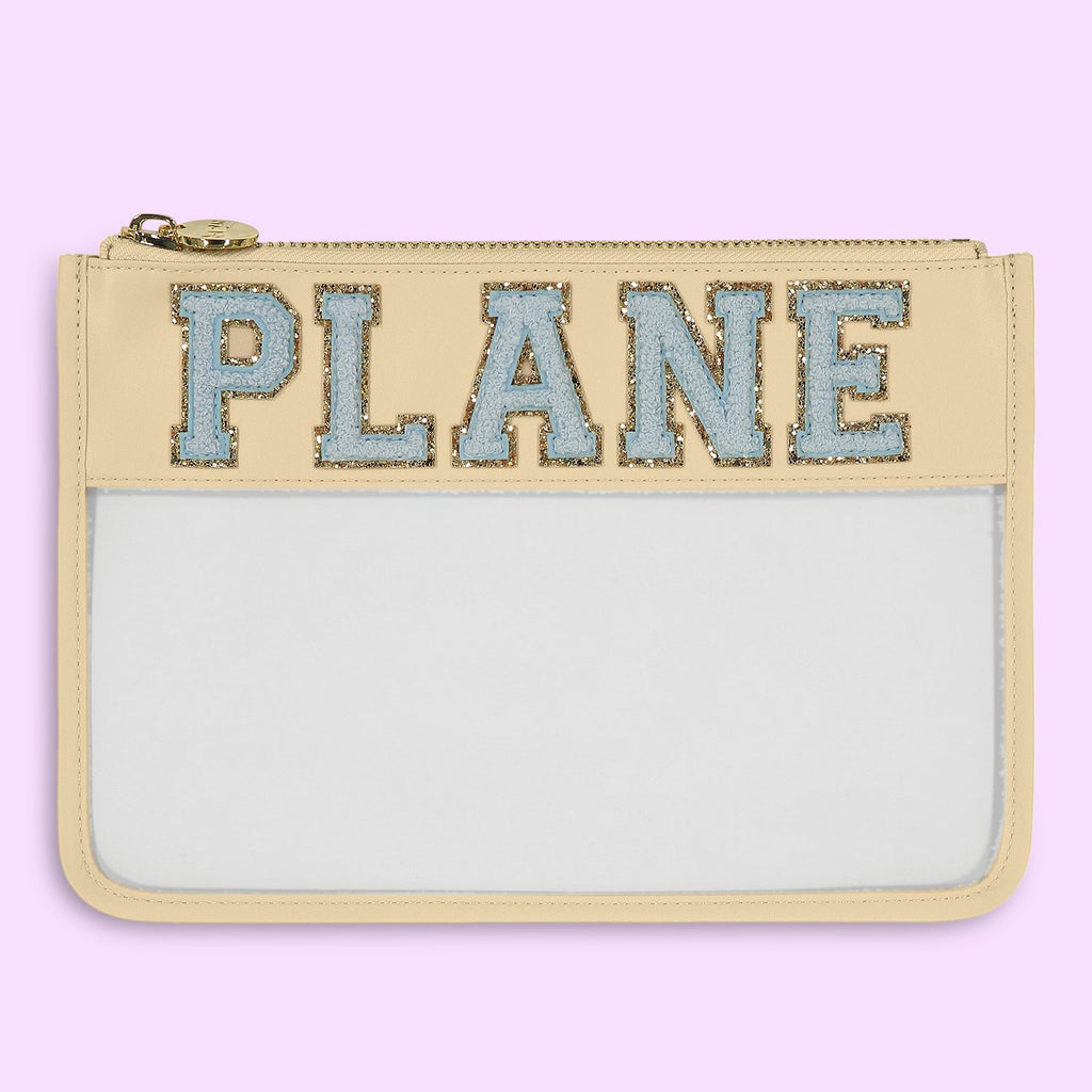 Sand 'Plane' Clear Flat Pouch