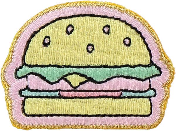 Hamburger Sticker Patch