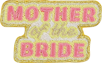 Mother of the Bride Sticker Patch
