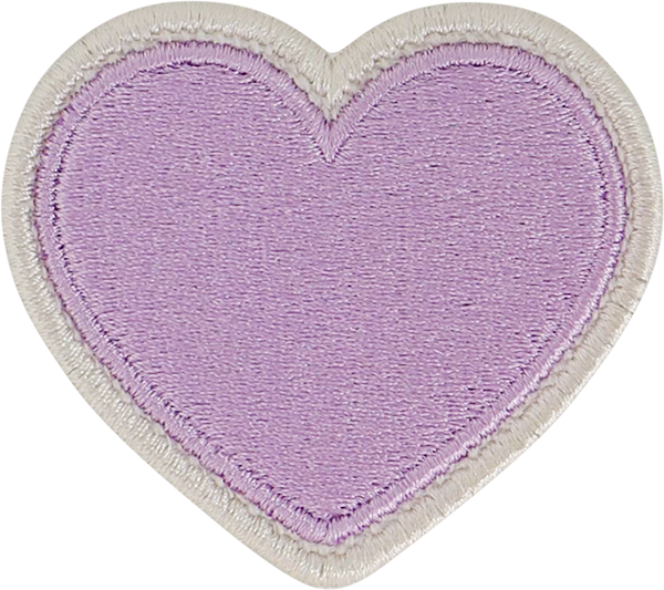Grape Rolled Embroidery Heart Patch