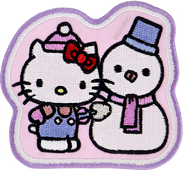Hello Kitty Snowman Patch