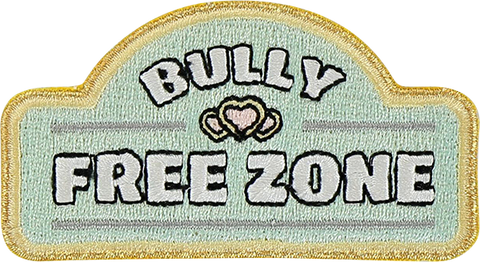 Bully Free Zone Sticker Patch