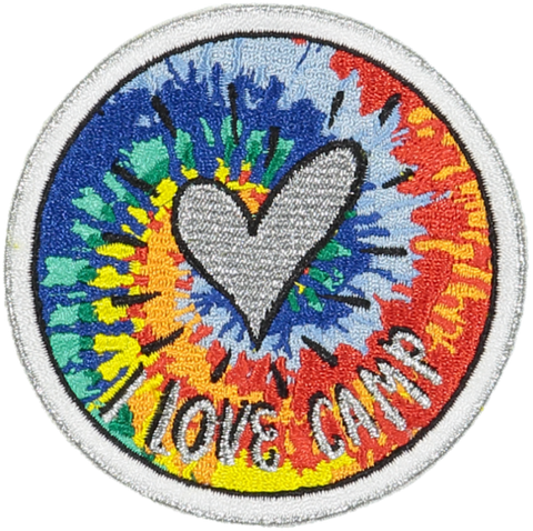 I Love Camp Tie Dye Sticker Patch