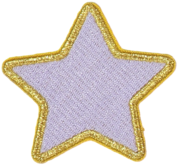 Lilac Star Sticker Patch