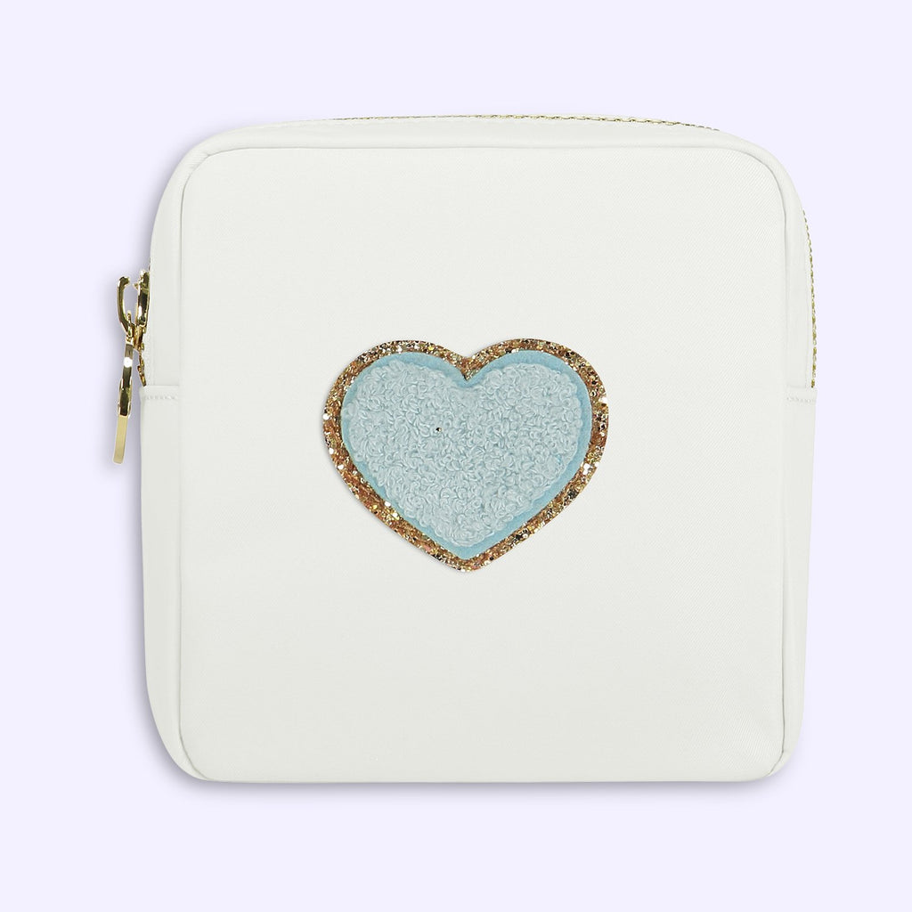 Blanc 'Heart' Mini Pouch